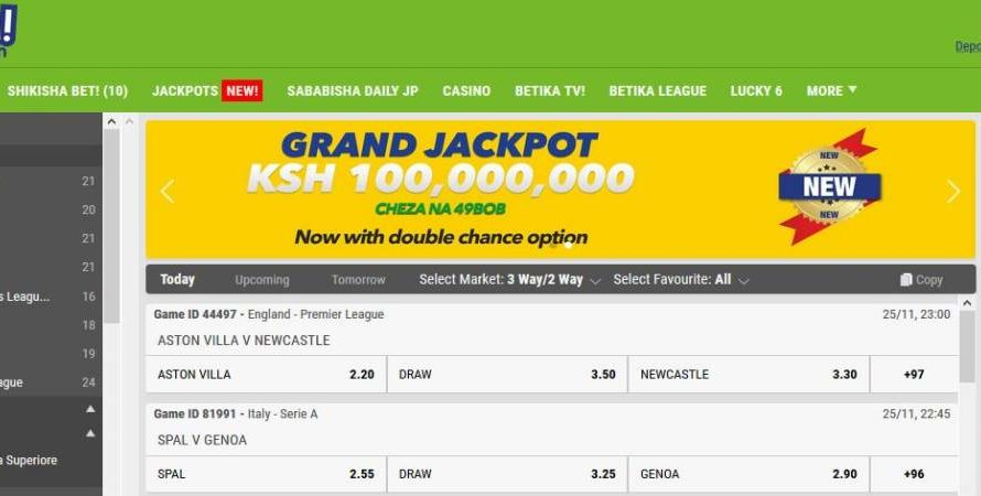 21st & 22nd December 2019 Betika Grand Jackpot Results, Bonuses and Winners