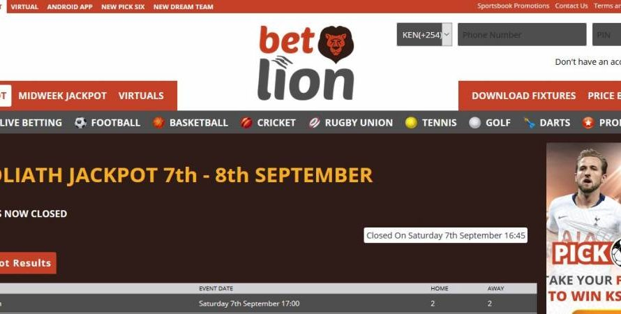 14th & 15th December 2019   Betlion Goliath Jackpot Predictions